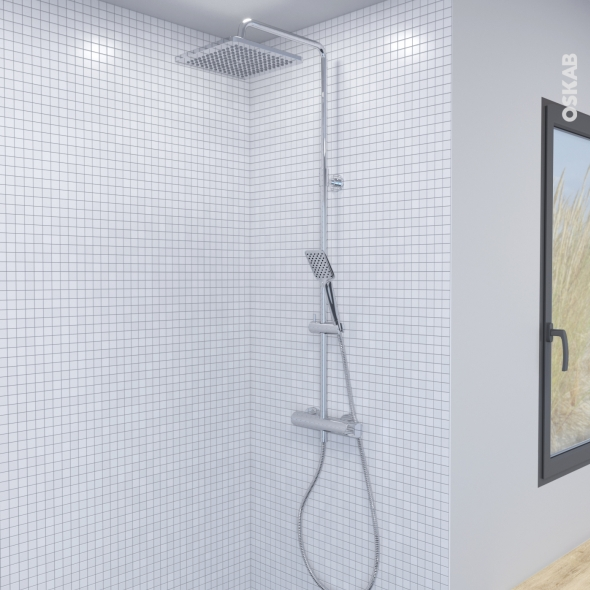 Colonne de douche - Télescopique PALAE - Mitigeur mécanique - Chromée