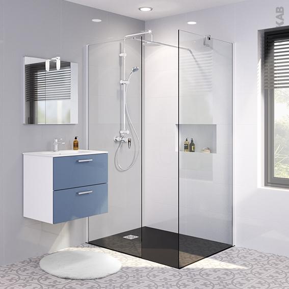 pack douche l 39 italienne paroi 80 cm paroi de retour 90 cm verre transparent 8 mm 2 barres de. Black Bedroom Furniture Sets. Home Design Ideas
