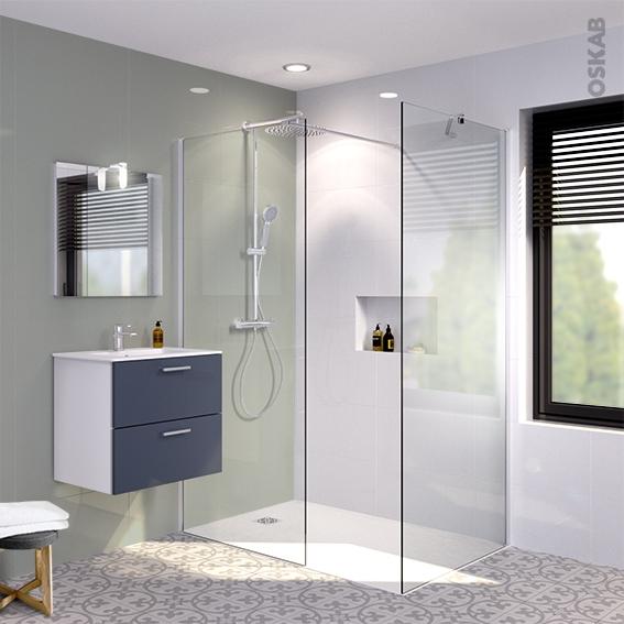 pack douche l 39 italienne paroi 90 cm paroi de retour 90 cm verre transparent 6 mm 2 barres de. Black Bedroom Furniture Sets. Home Design Ideas