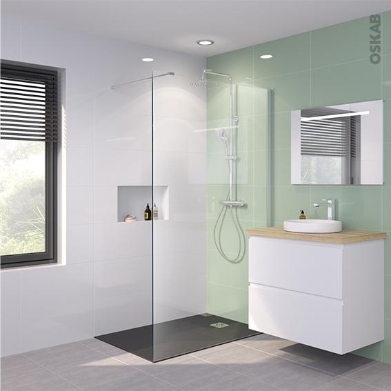 paroi de douche l 39 italienne 120 cm verre transparent 6 mm 1 barre de fixation atlas 2 oskab. Black Bedroom Furniture Sets. Home Design Ideas