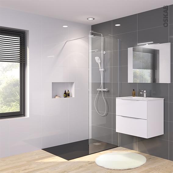 paroi de douche l 39 italienne 80 cm verre transparent 8 mm. Black Bedroom Furniture Sets. Home Design Ideas