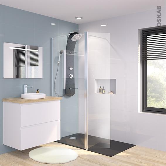 paroi de douche l 39 italienne 90 cm volet verre. Black Bedroom Furniture Sets. Home Design Ideas