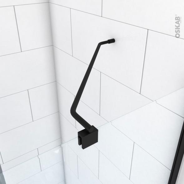 Barre angle - paroi simple / paroi latérale de retour - inox noir