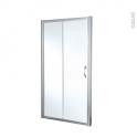 Porte de douche coulissante OLYMPE - 140 cm - Verre transparent