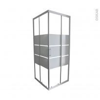 Porte de douche - coulissante ELIE - Angle 70x70 cm - Verre sérigraphié