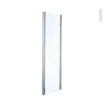 Paroi de douche fixe OLYMPE - 80 cm - Verre transparent