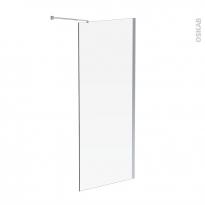 Paroi de douche à l'italienne ATLAS - 90 cm - Verre transparent 8 mm