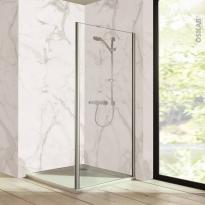 Paroi de douche - fixe latérale HUPPE - 80 cm - Verre transparent - profilés chromés