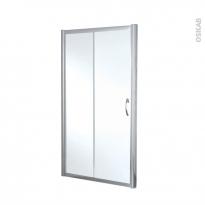 Porte de douche coulissante OLYMPE - 120 cm - Verre transparent