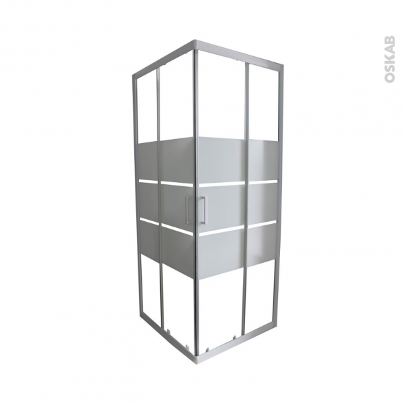 porte de douche coulissante elie angle 70x70 cm verre s rigraphi oskab. Black Bedroom Furniture Sets. Home Design Ideas