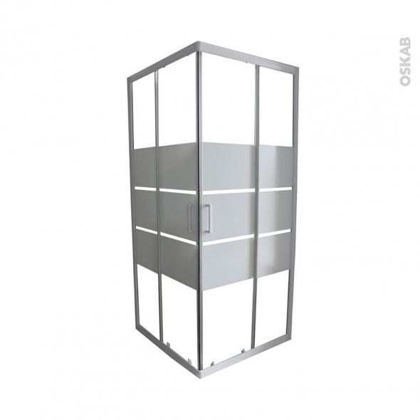 porte de douche coulissante elie angle 80x80 cm verre. Black Bedroom Furniture Sets. Home Design Ideas