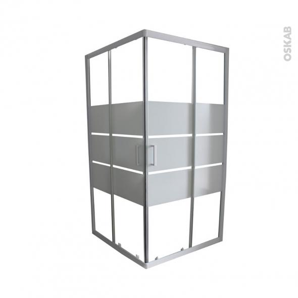 porte de douche coulissante elie angle 90x90 cm verre. Black Bedroom Furniture Sets. Home Design Ideas