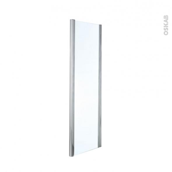 Paroi de douche fixe OLYMPE - 90 cm - Verre transparent
