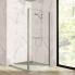 #Paroi de douche - fixe latérale HUPPE - 80 cm - Verre transparent - profilés chromés