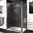 #Porte de douche - coulissante HUPPE - 120 cm - Verre transparent - profilés chromés
