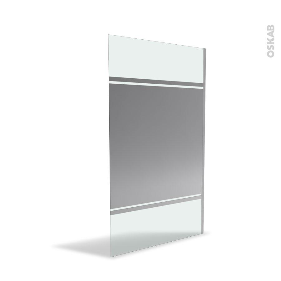 Paroi De Douche L 39 Italienne 120 Cm Verre Miroir 8 Mm Paroi De Douche  Miroir