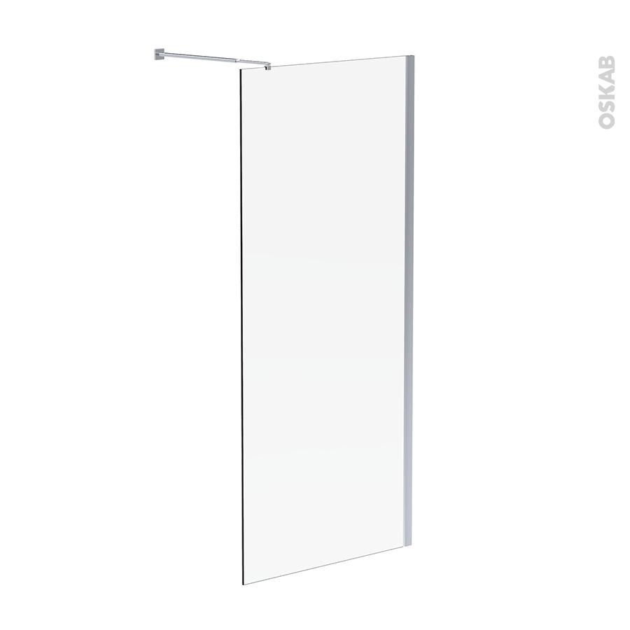 Paroi de douche l 39 italienne atlas 90 cm verre - Parois de douche a l italienne ...