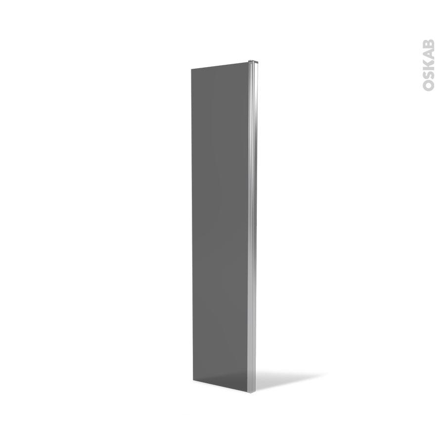 volet paroi de douche l 39 italienne 40 cm verre fum 6 mm atlas 2 oskab. Black Bedroom Furniture Sets. Home Design Ideas