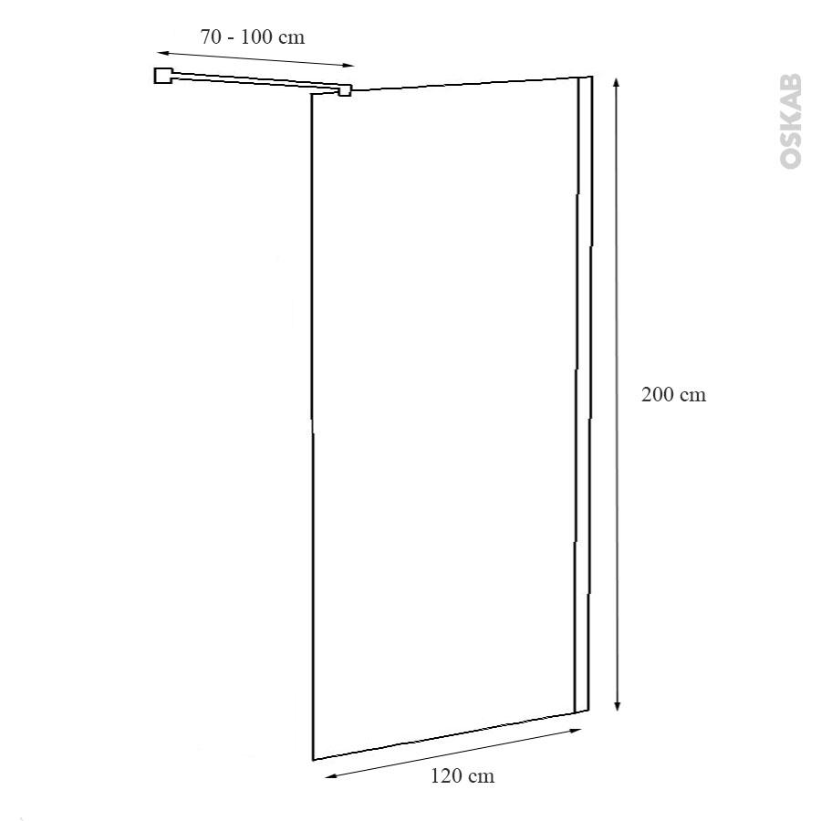 paroi de douche l 39 italienne atlas 120 cm verre transparent 8 mm oskab. Black Bedroom Furniture Sets. Home Design Ideas