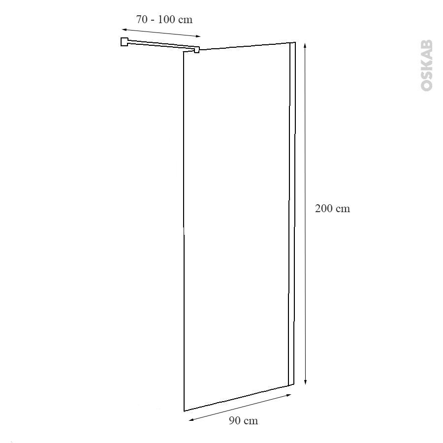 paroi de douche l 39 italienne atlas 90 cm verre transparent 8 mm oskab. Black Bedroom Furniture Sets. Home Design Ideas