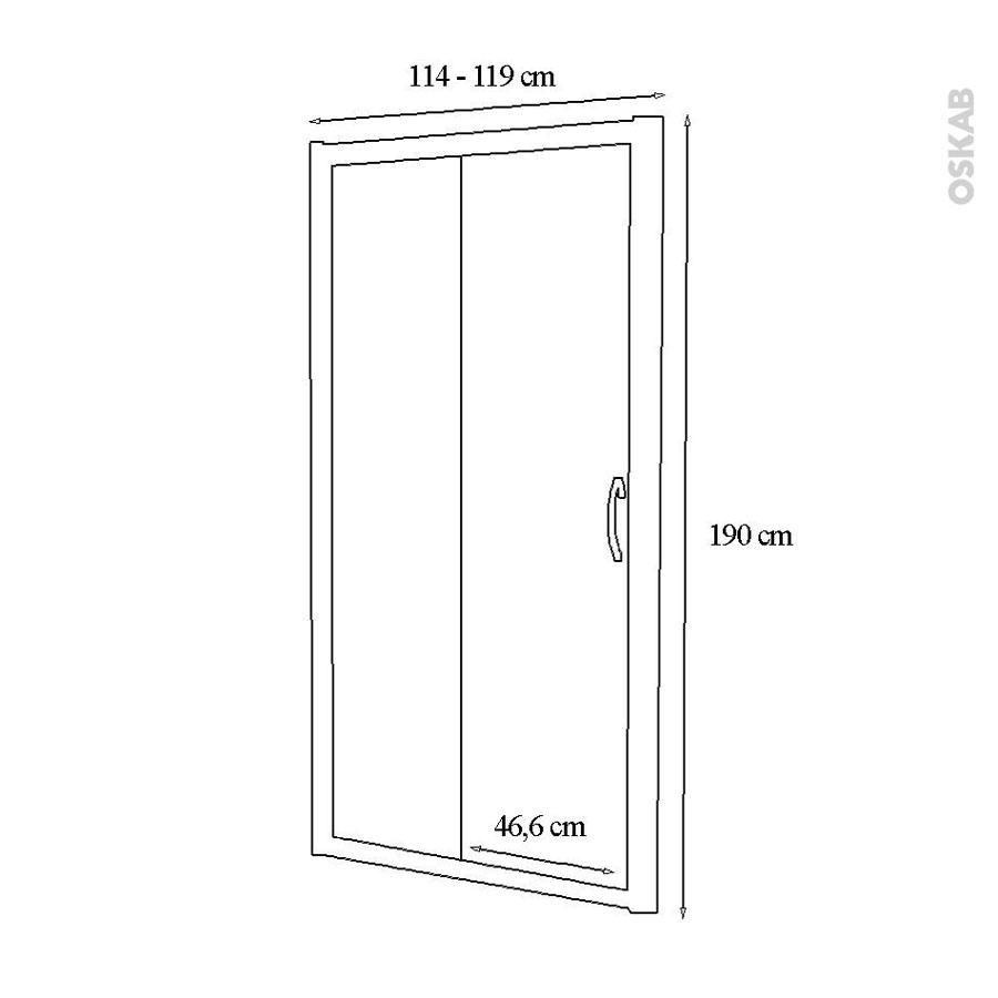 Porte de douche coulissante olympe 120 cm verre - Porte de douche 120 cm ...