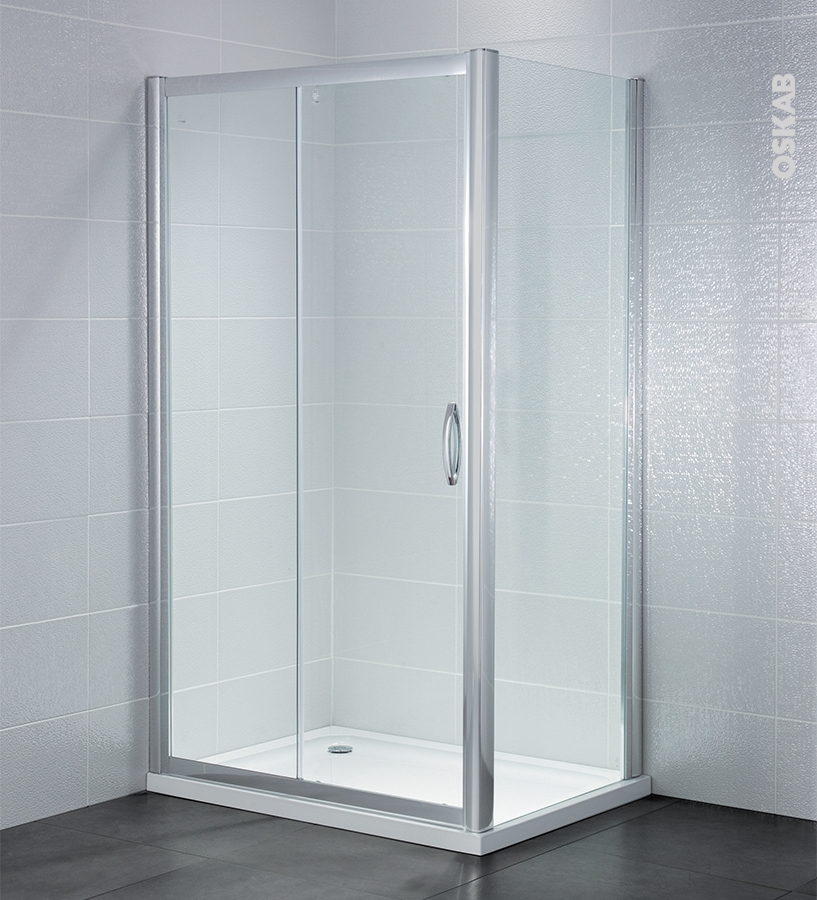 porte de douche coulissante olympe 120 cm verre transparent oskab. Black Bedroom Furniture Sets. Home Design Ideas