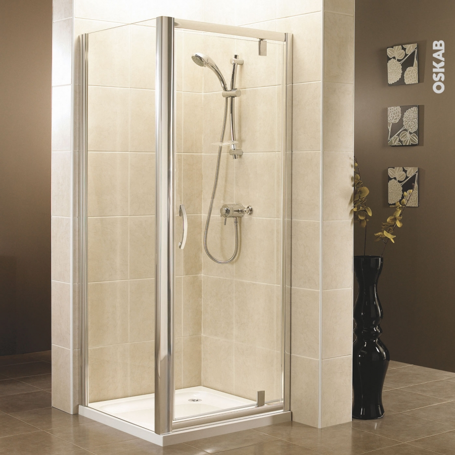 porte de douche pivotante olympe 70 cm verre transparent oskab. Black Bedroom Furniture Sets. Home Design Ideas