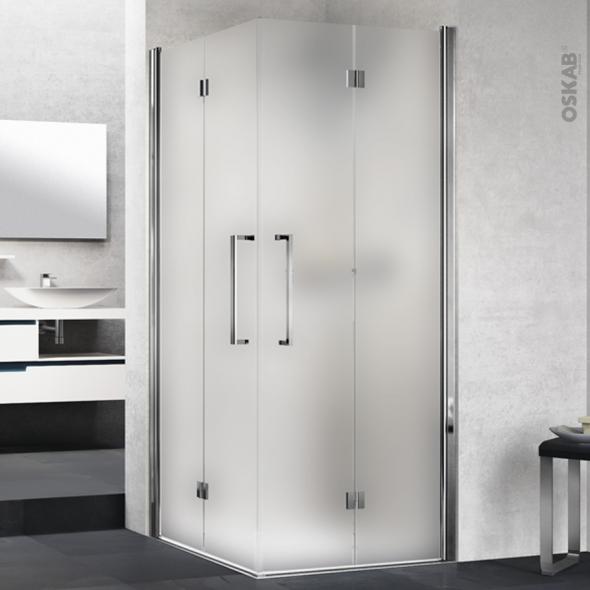 porte de douche angle carr pliant novellini 90x90 cm. Black Bedroom Furniture Sets. Home Design Ideas