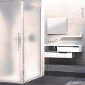 Paroi de douche - fixe latérale NOVELLINI - 80 cm - Verre dépoli - profilés chromés
