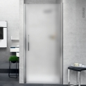 Porte de douche - pivotante NOVELLINI - 80 cm - Verre dépoli - profilés chromés