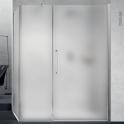 Porte de douche - pivotante NOVELLINI - 120 cm - Verre dépoli - profilés chromés