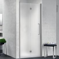 Porte de douche - pliante NOVELLINI - 80 cm - Gauche - Verre dépoli - profilés chromés