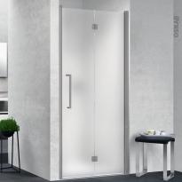 Porte de douche - pliante NOVELLINI - 80 cm - Droite - Verre dépoli - profilés chromés