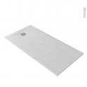 Receveur de douche - Extra-plat BALI - Résine - Rectangulaire 160x80 cm - Blanc