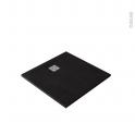 Receveur de douche - Extra-plat BALI - Résine - Carré 90x90 cm - Noir