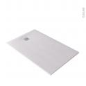 Receveur de douche extra-plat BALI - Résine - Rectangulaire 140x90cm - Blanc