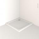 Receveur de douche - MUSA - Acrylique renforcé - Carré 80x80 cm - Blanc