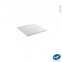 Receveur de douche - Extra-plat PAO - Céramique - Carré 80x80 cm - Blanc