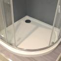Receveur de douche SAMOA - Acrylique  - 1/4 de cercle 90x90cm - Blanc