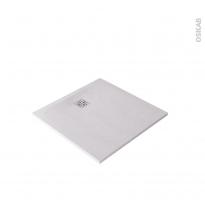 Receveur de douche - Extra-plat BALI - Résine - Carré 90x90 cm - Blanc