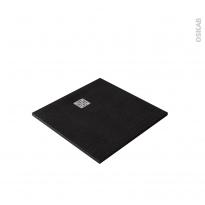 Receveur de douche extra-plat BALI - Résine - Carré 90x90cm - Noir