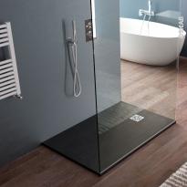 Receveur de douche extra-plat BALI - Résine - Rectangulaire 120x80cm - Noir
