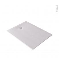 Receveur de douche extra-plat BALI - Résine - Rectangulaire 120x90cm - Blanc