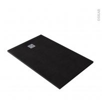 Receveur de douche extra-plat BALI - Résine - Rectangulaire 140x90cm - Noir