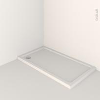 Receveur de douche - MUSA - Acrylique renforcé - Rectangulaire 120x80 cm - Blanc