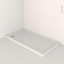Receveur de douche - MUSA - Acrylique renforcé - Rectangulaire 140x80 cm - Blanc