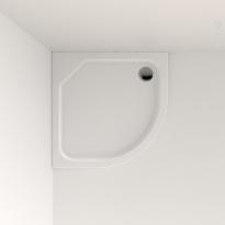 Receveur de douche - MUSA - Acrylique renforcé - 1/4 de cercle 90x90 cm - Blanc