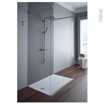 Receveur de douche - Extra-plat PAO - Céramique - Rectangulaire 120x80 cm - Blanc