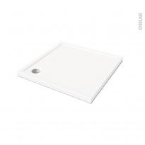 Receveur de douche SAMOA - Acrylique - Carré 90x90cm - Blanc
