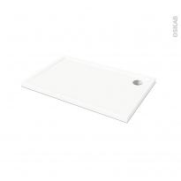 Receveur de douche SAMOA - Acrylique  - Rectangulaire 120x80cm - Blanc